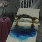 Beschilderde uitvaartkist