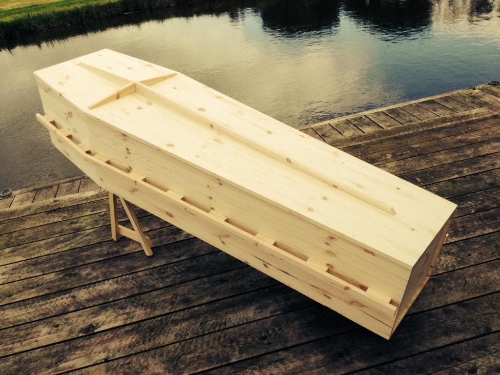 Traditionele grenen knikkist de kistemakker - Latwerk houten ...